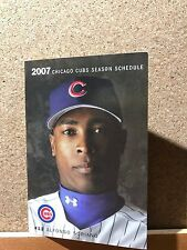 Chicago Cubs 2007 Baseball Schedule Soriano New Free Shipping