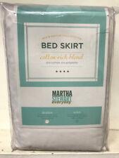 "Martha Stewart ""Everyday"" Cotton Rich Tailored Bed Skirt Ivory-Queen Size"