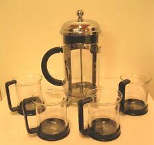 Starbucks Bodum Glass Coffee Tea French Press 8 Cups  with 4 cups