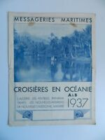 Folleto Catálogo Cruceros En Oceania Mensajero Marítima Premio 1937