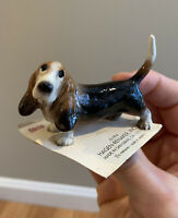 Hagen-Renaker 3154 PAPA BASSETT Miniature Ceramic Basset Hound Dog Figurine