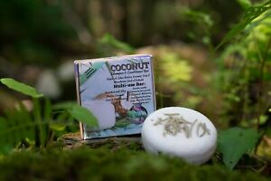 Coconut Shampoo & Conditioner Bar - Nourishes Broken, Dried, & Dying hair.
