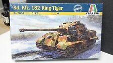 King Tiger Tank German Italeri Plastic Model 1/72 Scale #7004 Factory Sealed
