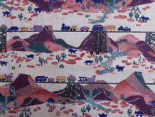Vintage Alexander Henry Collection Cotton Fabric Southwest Sante Fe Trains
