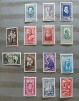 FRANCE 1943 TROIS SERIES COMPLETES Yv 585-598 neufs** c 32,20€  (3) /Cv049