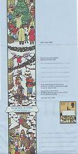 GB Stamps Aerogram / Air Letter APS41 - 10 1/2p Tree,Carols,Snow Christmas 1978