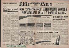 1957 REMINGTON 572 Fieldmaster 760 Gamemaster Rifle  870 Wingmaster Shotgun AD