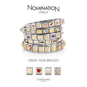 Nomination Classic Italian Charm 18k 9mm Various Symbols - You Choose