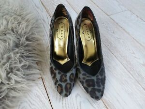 Ted Baker~Animal Print Shoes~Silver Heels~UK6 US8.5 EU39