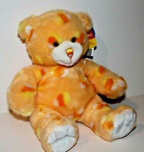 """BUILD A BEAR Halloween CUDDLY CANDY CORN Orange TEDDY 15"""" BABW Plush LIMITED ED"""