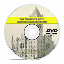 Iowa IA Civil War, Family Tree History and Genealogy 148 Books DVD CD B38