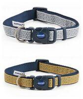 Ancol Fashion Geometric Mustard Grey Adjustable Nylon Dog Puppy Collar Lead