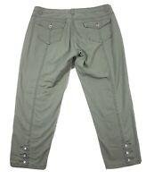 Nine Weat Jeans Womens Pants Size 12/30  Green Capri Cropped 35x24
