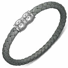 Leather Stainless Steel Urban Male Bracelets for Men