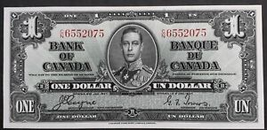 SCARCE 1937 Canada Bank of Canada $1 Banknote Coyne Towers P58c aUNC