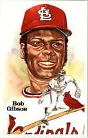 1980-02 Perez-Steele Hall of Fame Postcards #175 Bob Gibson oversized
