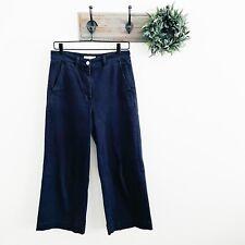 Everlane Navy Wide Leg Crop Chino Pants 6