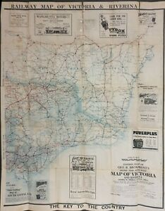 ORIGINAL MAP of VICTORIA EASTERN HALF & RIVERINA