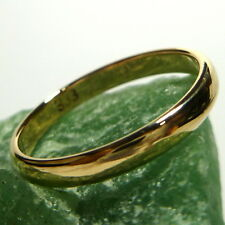 333/8K Oro Anello di fidanzamento nuziale giallo a nastro 56 (17,8 mm Ø )