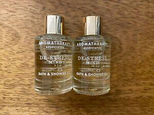 2 x 9ml Aromatherapy Associates De-Stress Muscle Bath and Shower Oil Travel Size