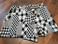 Boohoo Ladies Girls Black White Check Shorts New with tags Size 12