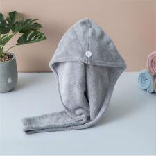Portable Microfiber Hair Towel Turban Wrap Anti-Frizz Quick Dryer for Lady