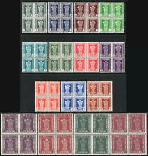 INDIA SERVICE-1958-71 Set of 15 Blocks of 4 Sg O175-O189 UNMOUNTED MINT V41046