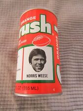 ORANGE CRUSH CAN Denver Broncos NFL FOOTBALL TEAM ~ NORRIS WEESE / QUARTERBACK