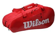 Wilson Super Tour 15 Pack 3 Compartment Tennis Bag - Wrz840815 - Red/White