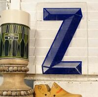 Vintage Acrylic Marquee Letter Z Sign Plastic Display Retro Industrial Decor