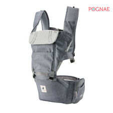 [POGNAE] All New NO5 hip seat baby carrier-denim gray