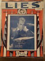 Vintage Sheet Music 1931 Lies George Springer Harry Barris Rubinoff SHIPS FAST