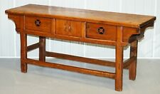 ANTIQUE CHINESE TEMPLE ALTER SIDEBOARD WITH CUPBOARDS IN SOLID TEAK REDDISH