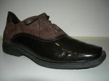ARCHE Damen Schuhe Business Leder Nubuk Lackleder Latex Braun France Gr.40 Neuw