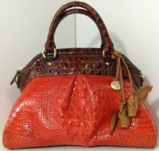 ❤️BRAHMIN LOUISE ROSE SALSA TRI COLOR + WALLET RED PECAN SATCHEL CROC ~ CAYENNE❤
