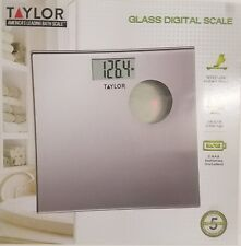 Taylor Silver Glass Digital Scale Step-On Instant Read