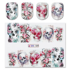 2X Born Pretty Wasser Transfer Tattoo Nagel Sticker Aufkleber Nageldesign Muster