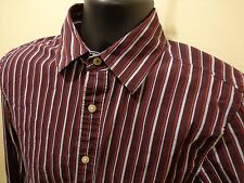 Converse All Star Mens Burgundy Stripe Long Sleeve Sz S 100% cotton
