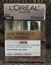 "L'ORÉAL PARIS AGE PERFECT CELL RENEWAL ROSY TONE MASK ""TREAT ""1.7 OZ (48g)"