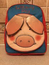 Wibbly Pig Plush Children's Kids BackPack Bag