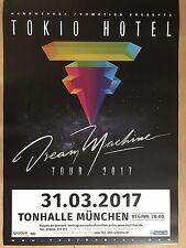 TOKIO HOTEL  2017  MÜNCHEN  - orig.Concert Poster -- Konzert Plakat  A1 NEU