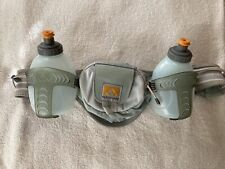 Hydration Belt Nathan Hiking Running Adjustable Belt 2 10oz Bottles