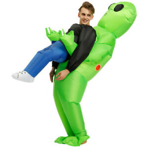 Holiday T-REX Inflatable Dinosaur Costume Jurassic Blow up Outfits Dress 2 Size