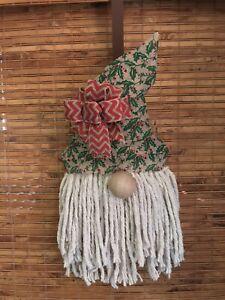 Gnome Wreath,  Gnome Door Hanger
