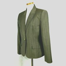 Anne Klein Womens Wool Blend Taupe Brownish w Carmel Color Striped Pant Suit 12