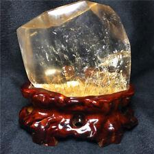 1080g  Natural Gold hair Smoky Rutilated Crystal stone healing