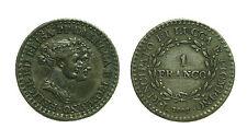 pcc1395) Principato di Lucca e Piombino 1 Franco 1808 Felice ed Elisa