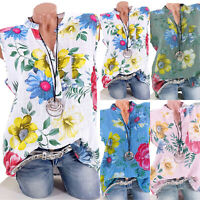 Womens Summer Vest Sleeveless Blouse Loose Casual Tank Tops T-Shirts Plus Size