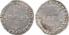 Louis XIII, 1/4 d'écu croix de face, Bayonne, 1613 - 26