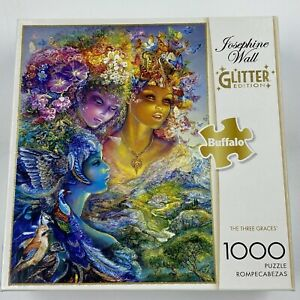 Buffalo Games The Three Graces 1,000 Piece Jigsaw Puzzle Missing 1 Piece Glitter